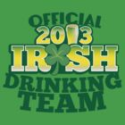 Official 2013 IRISH Shirt with beer pint and a shamrock by jazzydevil