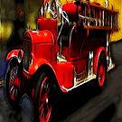 Firetruck iPad Case by ipadjohn