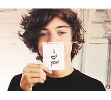 """Harry Styles One Direction """"I Love You"""" Photographic Print"""