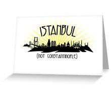 Istanbul (not Constantinople) - Sunburst Greeting Card