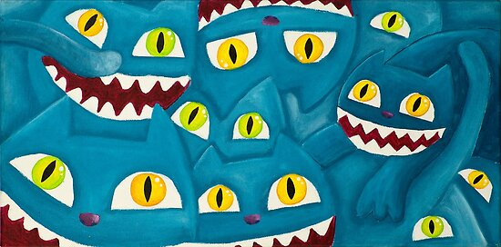 Blue cats by NinaBric