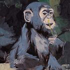 baby chimp by KingVitaman
