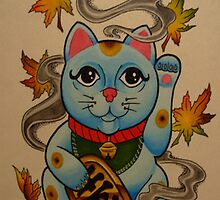 Chinese Good Luck Cat by MikeFrench