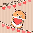 Cute Hamster Valentine by zoel