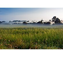 Misty Fields Photographic Print