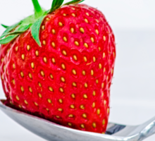 Strawberry on a plate Sticker