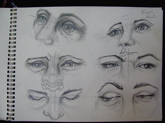 eyes sketch by evon ski