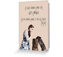 Dorothy and Toto's Place //pastel Greeting Card