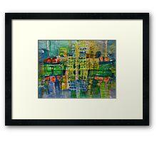 city#9 version 2 Framed Print