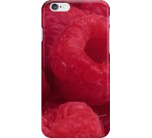 Delicious Red Raspberries iPhone Case/Skin