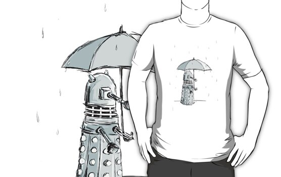 Dalek in the Rain by cl-productions