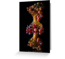 Grape reflections Greeting Card
