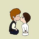 Princess Leia & Han Solo Kiss by PirateGiraffe