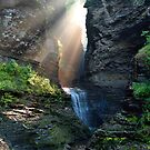 Hopeful Rays Spotlight Minnehaha Falls by Gene Walls