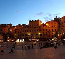Piazza del Campo by Andrea  Muzzini