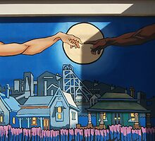 Broken Hill mural by Geoff De Main, m by Heather Dart