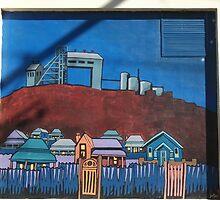 Broken Hill mural by Geoff De Main, n by Heather Dart