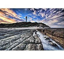 Norah Head Lighthouse at Sunset Photographic Print