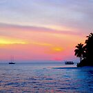 sunset in the Maldives by supergold