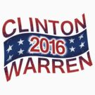 Clinton / Warren 2016 (flying) by portispolitics