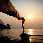 Sunset on the Lake Kivu, Cyangugu, Rwanda by monsieurI