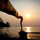 Sunset on the Lake Kivu, Cyangugu, Rwanda by monsieurI