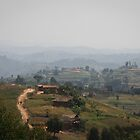 Thousand of hills on the road to Cyangugu, Rwanda by monsieurI