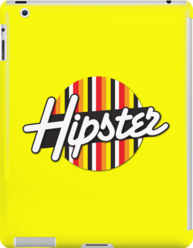 HIPSTER on a funky retro circle by jazzydevil