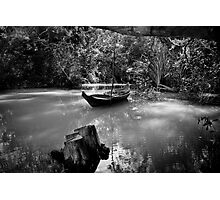 Boat on the river Photographic Print
