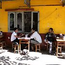 Cafe in Yangon Burma/ Myanmar  by Peter Voerman
