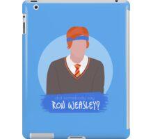 did somebody say ron weasley? iPad Case/Skin