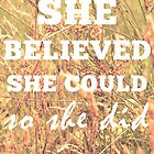 She Believed She Could  by Vintageskies
