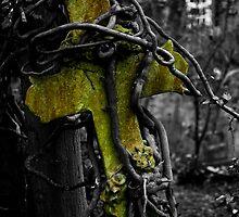 Highgate Cemetery Cross by ianbroadmore