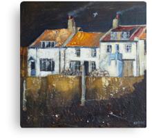 Cowbar Cottages, Staithes Canvas Print