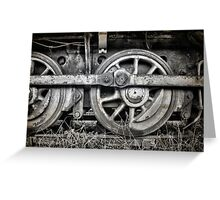 Vintage Train Wheels Greeting Card