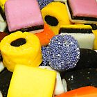 Liquorice allsorts Background by kelly-m-wall