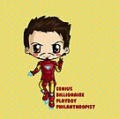 Marvel Avengers Ironman Chibi by IcyPanther