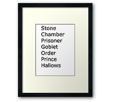 Harry Potter in Short Framed Print