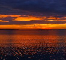 Charleston Harbor at Sunrise by stevenmrichman