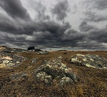 Dark Afternoon at Dog Rocks - Batesford Victoria by Graeme Buckland