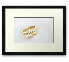 Love Engagement Ring Framed Print
