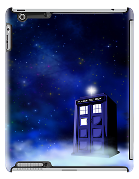 TARDIS on a Cloud - No Text by jlechuga