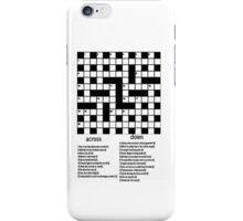 Crossword iPhone Case iPhone Case/Skin