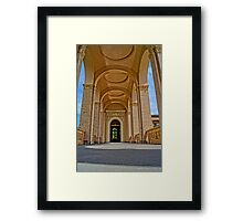 beautiful columns, HDR Photo Framed Print