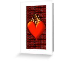 *•.¸♥♥¸.•* BURNING LOVE IPHONE CASE *•.¸♥♥¸.•* Greeting Card
