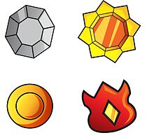 Kanto Gym Badges by CrypticPiXeL