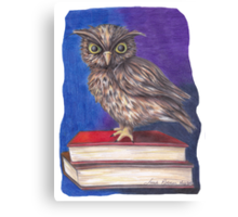 Archimedes the Owl Canvas Print