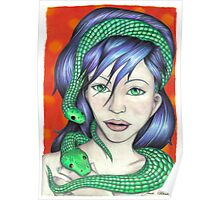 Woman with Snakes Poster