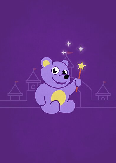 Purple Cartoon Teddy Bear Fairy by Boriana Giormova