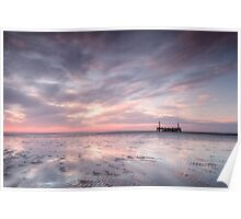 Ribble Remnants Sunset Poster